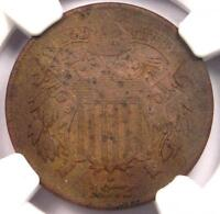 1872 TWO CENT PIECE 2C - NGC VF DETAILS  FINE -  DATE CERTIFIED COIN