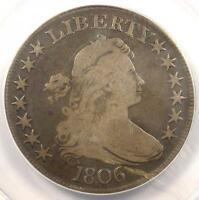 1806 DRAPED BUST HALF DOLLAR 50C O-115A - ANACS F15 DETAIL -  CERTIFIED COIN