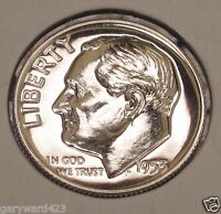 DIME  1953  GEM  MIRRORED  PROOF   LUSTROUS