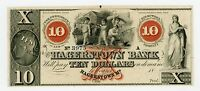 1800'S $10 HAGERSTOWN BANK   MARYLAND NOTE CU