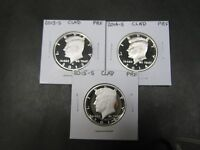 2013 S  2014 S  2015 S   2016 S CLAD PROOF KENNEDY HALF DOLLARS 4 COINS