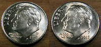 2013 D & P BU ROOSEVELT DIME 2 COIN SET FROM STRING & SON ROLLS