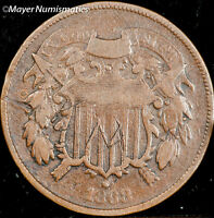 1868 TWO CENT PIECE 2C 3597.D0907 F  FINE  ENGRAVED