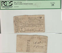 1771 NORTH CAROLINA COLONIAL CURRENCY .  PCGS FINE 35