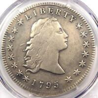 1795 FLOWING HAIR SILVER DOLLAR $1 3 LEAVES   PCGS VF DETAILS    COIN