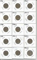 15 NICKELS 1946 1947 1948 1949 1951 P D S YEAR SETS JEFFERSON COLLECTION KEY