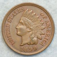 1899 INDIAN HEAD CENT PENNY LIBERTY DIAMONDS GREAT COLOR  53529