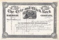 THE ERIE AND BLACK ROCK RAILROAD COMPANY..1800'S UNISSUED STOCK CERTIFICATE