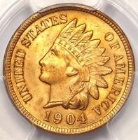1904 INDIAN CENT 1C   CERTIFIED PCGS UNCIRCULATED DETAILS    UNC MS BU PENNY
