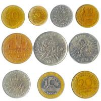 10 COINS FROM FANCE. OLD COLLECTIBLE FRENCH MONEY. FRANCS CENTIMES: 1944 2001