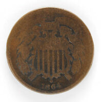 1864 P TWO CENT PIECE - AG 01288540G