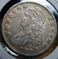 1812 CAPPED BUST HALF DOLLARO 108.2LY FINE CONDITIONBGE