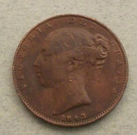 GREAT BRITAIN FARTHING 1843  DD196