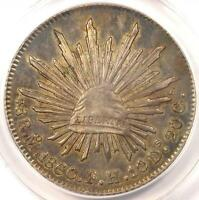 1860/59 MO MEXICO 8 REALES COIN 8R   CERTIFIED ANACS AU53