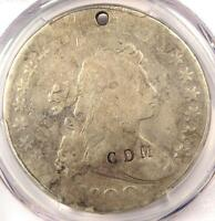 1800 DRAPED BUST SILVER DOLLAR $1   PCGS GOOD DETAILS HOLE   COUNTERMARK