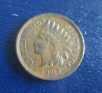 1907 INDIAN HEAD CENT  NO PROBLEMS  AU   BOLD LIBERTY   PLEASANT COLOR   NICE