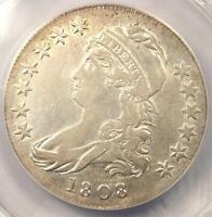 1808 CAPPED BUST HALF DOLLAR 50C O 109A   ANACS XF40 DETAILS EF40    COIN