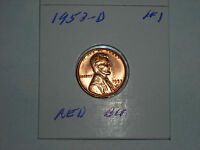 1953D  LINCOLN WHEAT CENT ,   RED BU   LOT 1