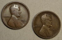 PAIR OF BETTER DATE LINCOLN CENTS, 1913-S & 1915-S, GOOD TO  GOOD    0320-96
