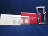 1776 1976 UNITED STATES BICENTENNIAL SILVER UNCIRCULATED COIN SET DOLLAR KENNEDY