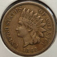 1862 INDIAN CENT  CHOICE FINE MOST DEALERS EF  0520 03