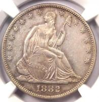 1882 SEATED LIBERTY HALF DOLLAR 50C   NGC AU DETAILS      JUST 4,400 MINTED