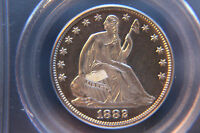 1882 50C CAMEO PROOF SEATED LIBERTY SILVER HALF PCGS PR63 CAM   STRONG CAMEO