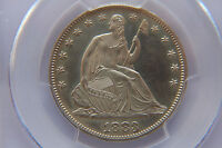 1883 50C CAMEO PROOF SEATED LIBERTY SILVER HALF PCGS PR62 CAM