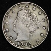 1902 LIBERTY V NICKEL CHOICE EXTRA FINE  SHIPS FREE E169 P