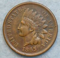 1865 INDIAN HEAD CENT PENNY LIBERTY GREAT DETAILS RIMS ORIGINAL COLOR 047