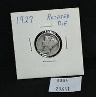 WEST POINT COINS   1927 MERCURY DIME ROTATED DIE REVERSE 170 DEGREE