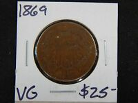 1869  GOOD TWO CENT - GOOD DETAILS -  COIN