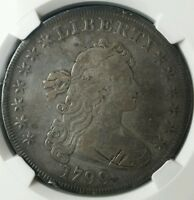 1799 $1 DRAPED BUST SILVER DOLLAR NGC VF DETAILS