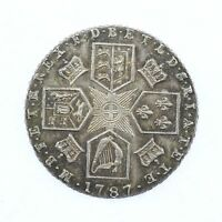 1787 GEORGE III .925 ARGENTO STERLING 6D SIXPENCE LIEVE ARCOBALENO SFUMATURA
