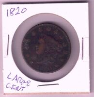 1820 UNITED STATES US LARGE CENT SMALL DATE FINE