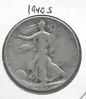 1940 S WALKING LIBERTY HALF DOLLAR.  NICE CIRCULATED 90 US SILVER COIN