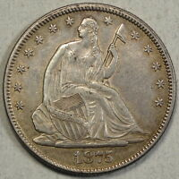1875 SEATED LIBERTY HALF DOLLAR ALMOST UNCIRCULATED DISCOUNTED   0828 14