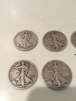 1918D 1935D 1941D 1942D 1943D 1944D 1947D WALKING LIBERTY 1/2 DOLLARS