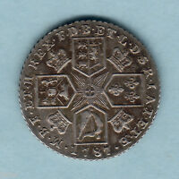 GREAT BRITAIN. 1787 GEORGE 111.. SHILLING.. WITH HEARTS.. EF/AEF