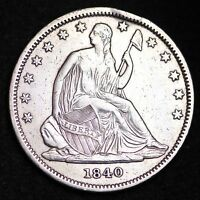 1840 SEATED LIBERTY HALF DOLLAR CHOICE XF  E280 PM