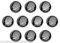 80S' S PROOF ROOSEVELT DIMES   1980 1989 10 NICE PROOF COINS 7/4