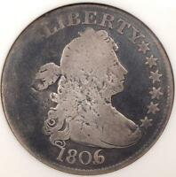 1806/5 DRAPED BUST QUARTER 25C   ANACS VG DETAILS NET G4    EARLY COIN