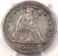 1885 SEATED LIBERTY QUARTER 25C   PCGS UNCIRCULATED UNC BU MS    DATE COIN