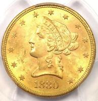 1880 S LIBERTY GOLD EAGLE $10 COIN   PCGS MS63    IN MS63   $2,400 VALUE
