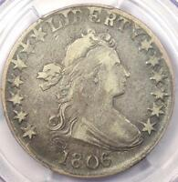 1806/5 DRAPED BUST HALF DOLLAR O-103 50C - PCGS VF25 -  - $1,150 VALUE