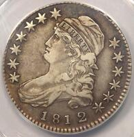 1812/1 CAPPED BUST HALF DOLLAR 50C. ANACS VF35    OVERDATE COIN   $550 VALUE