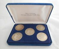 NEW ORLEANS MORGAN SILVER DOLLAR COLLECTION 5 1880 1881 1883 1887 1900