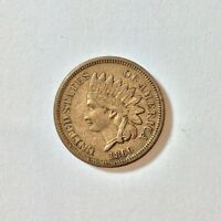 1860 INDIAN HEAD CENT PENNY ONE CENT US COIN AU O01
