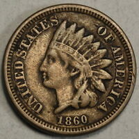 1860 INDIAN CENT  ORIGINAL FINE FULL LIBERTY  0520 01