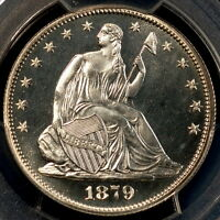 1879 LIBERTY SEATED HALF DOLLAR 50C PCGS PR65CAM CAC